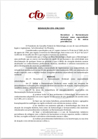 Resolução CFO 198-2019