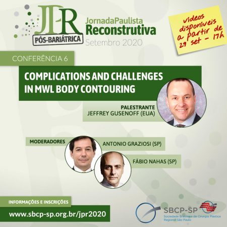 "Conferência VI ""Complications and Challenges in MWL Body Contouring"""